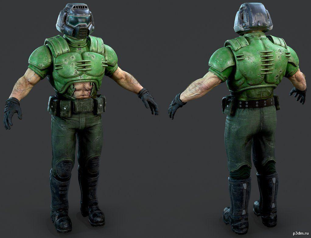 Doom Guy Pack 3d Models Doom Slayer Meme Guys