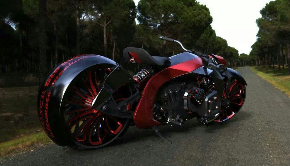 Black And Red Motorcycle With Images Motorcycle Concept