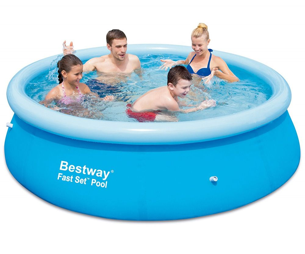 Family Pool 8ft Inflatable Ring Kids Swimming Paddling Portable ...