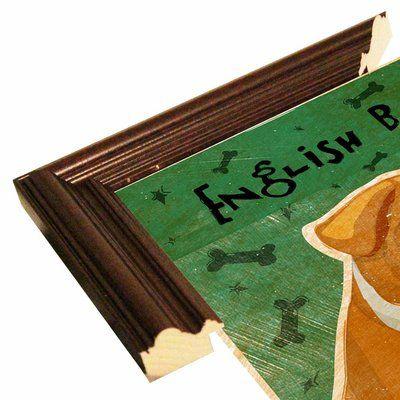 "East Urban Home 'English Bulldog' Graphic Art Print Format: Cherry Grande Framed Paper, Size: 10"" H x 8"" W x 2"" D"