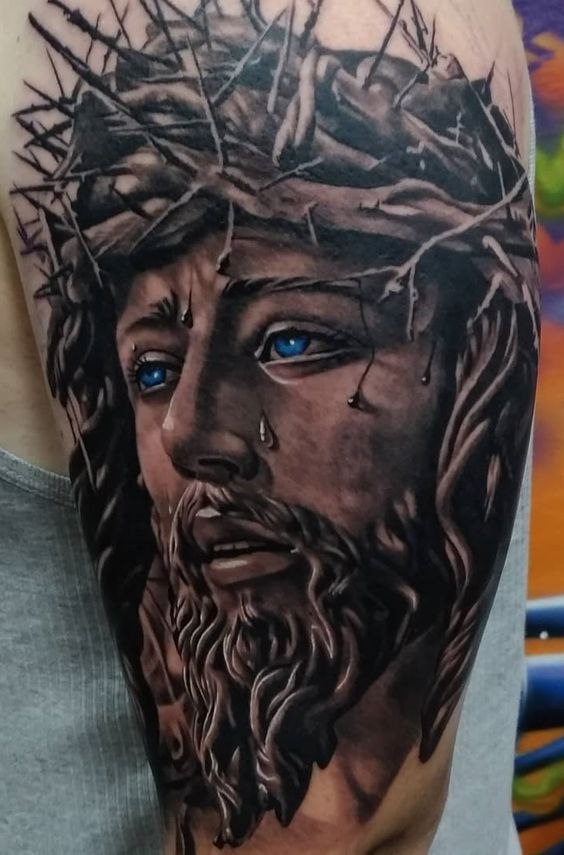 Epic Semi Permanent Tattoos Jesus Tattoo Christ Tattoo Jesus Tattoo Design Check out our jesus christ tattoo selection for the very best in unique or custom, handmade pieces from our there are 327 jesus christ tattoo for sale on etsy, and they cost $10.87 on average. pinterest