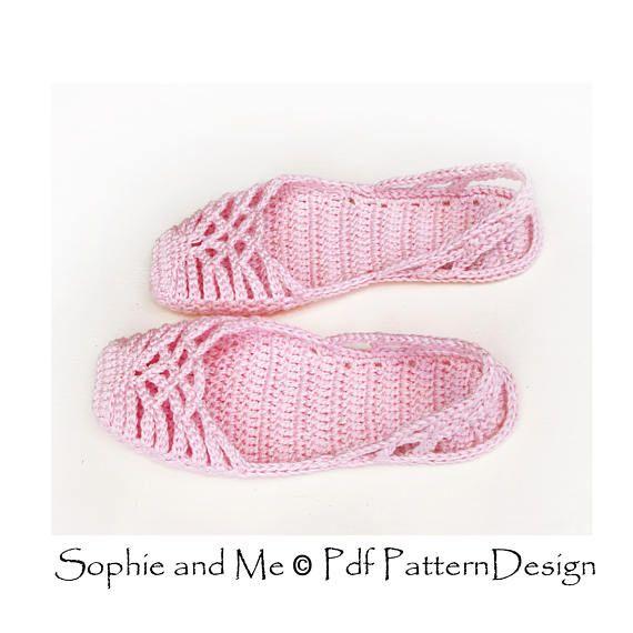 crochet sandal diagram lacey sling back slippers    crochet    pattern instant  lacey sling back slippers    crochet    pattern instant