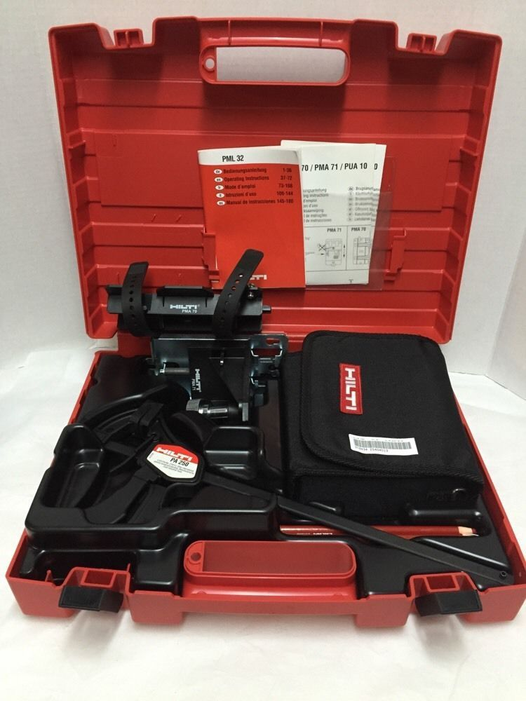 Hilti Pml 32 Line Laser Level Self Leveling Pml32 Accessories New In Case Manuel Hilti Laser Levels Ebay Selling On Ebay