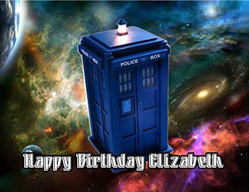 Doctor Who Tardis Edible Image Photo Sugar Frosting Icing Cake Topper Sheet Personalized Custom Customized Birthday Party  14 Sheet  78981 -- Find out more about the great product at the image link.(This is an Amazon affiliate link and I receive a commission for the sales)