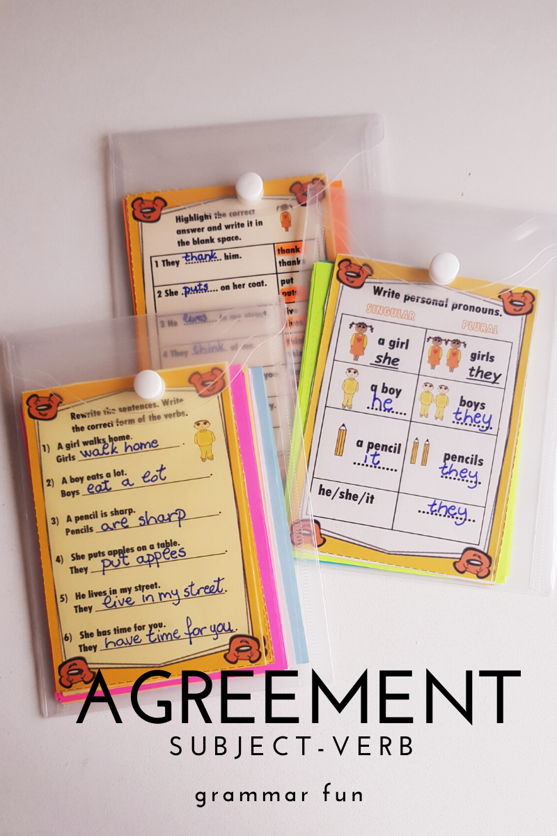Subject Verb Agreement Worksheets Subject And Verb Subject Verb Agreement Pronoun Activities [ 1200 x 800 Pixel ]