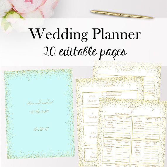 Wedding Planner Template Editable, Wedding Planner Editable - wedding planner template