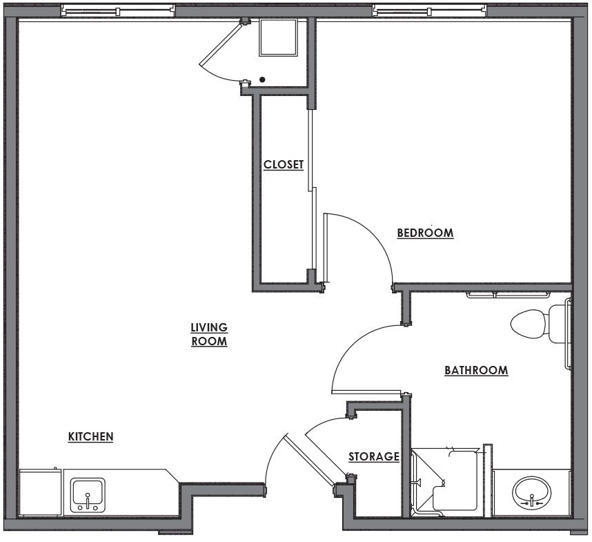 one room house plan