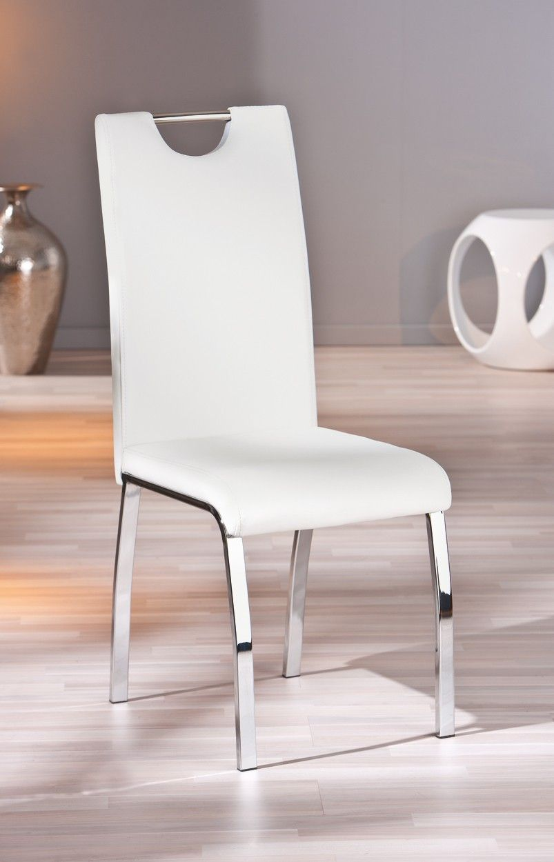 étonnant chaises blanches salle  manger