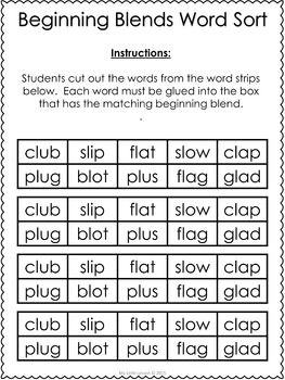 beginning blends worksheets bl cl fl gl pl sl prefixes