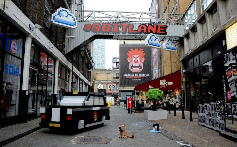 Disney give 8-bit makeover to London Street for Wreck-it Ralph UK debut