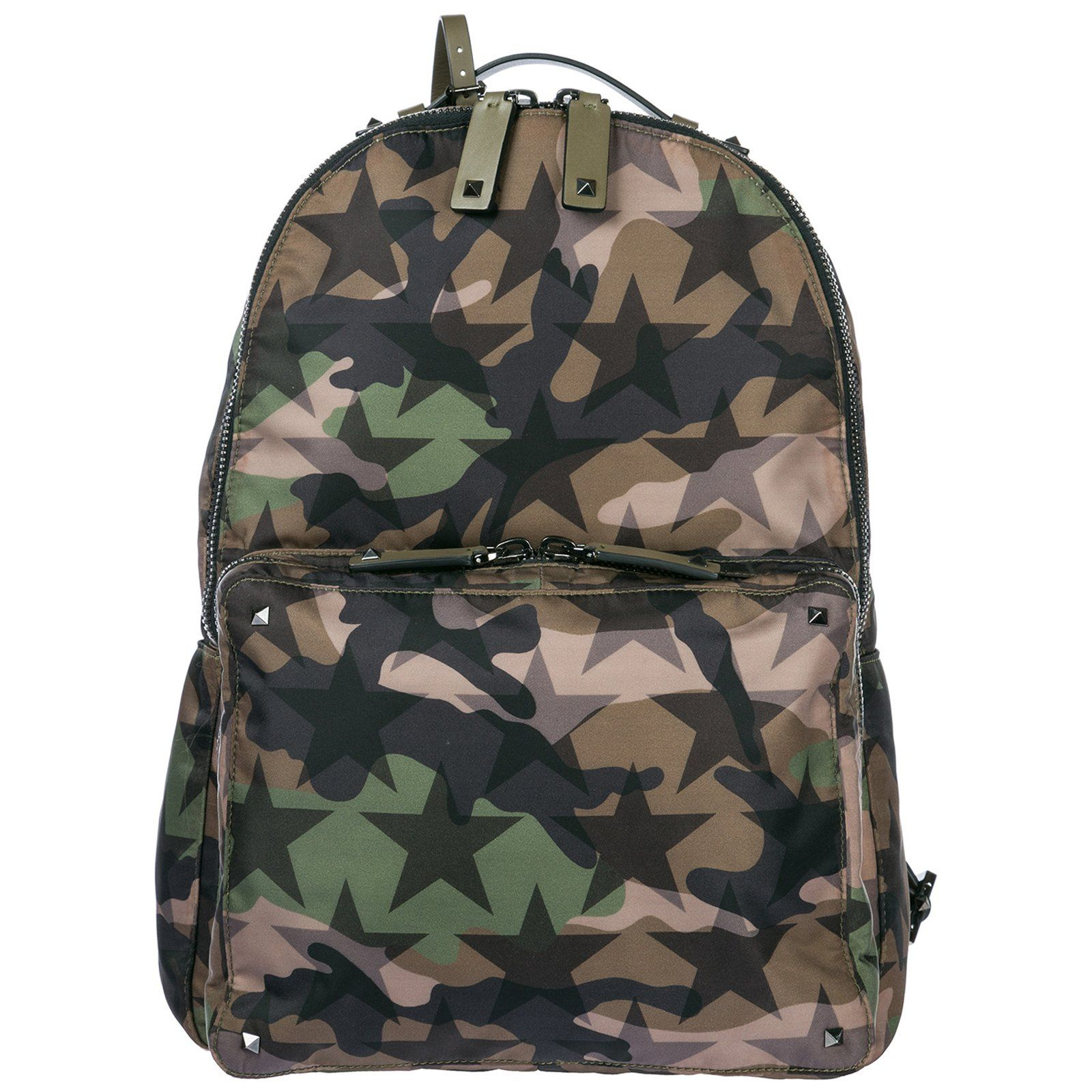 7d73c9a1b7 VALENTINO VALENTINO CAMOUFLAGE STAR BACKPACK. #valentino #bags #nylon # backpacks