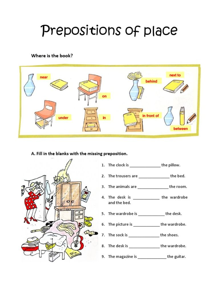 Prepositions Of Place Worksheet Worksheets English