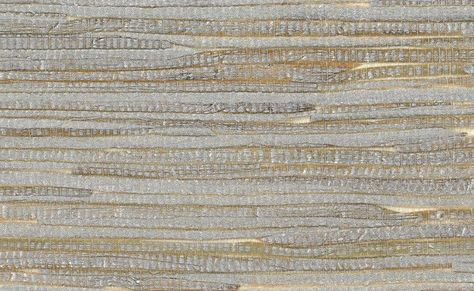 Grasscloth Wallpaper in Metallic and OffWhite design by