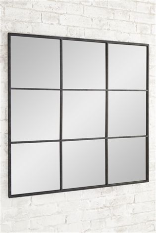 Buy Metal Window Mirror from the Next UK online shop | Living room ...