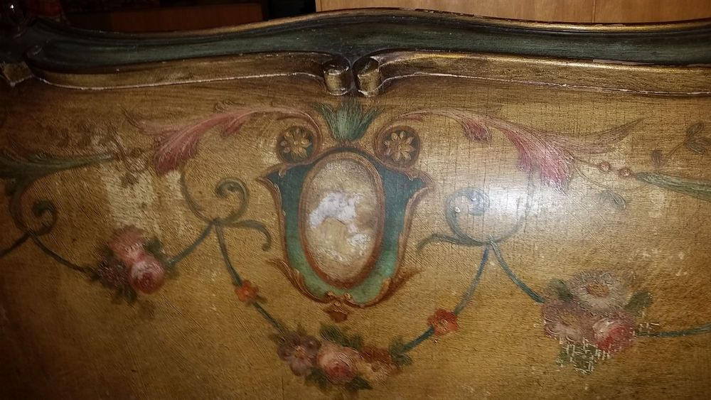 LOUIS XV French painted original portrait Double BED 19thC baroque available contact me girlsauction2 on ebay  #Baroque #unknown
