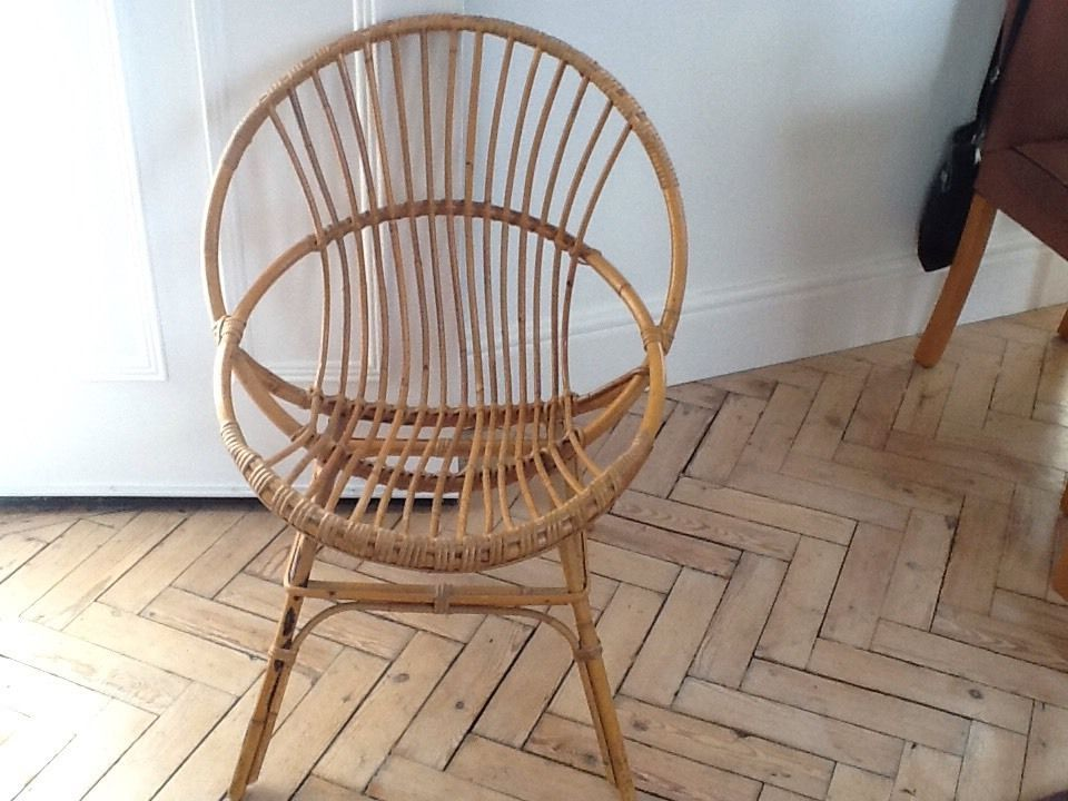 bamboo chair lovely circle style vgc mid century baby chair rh pinterest co uk