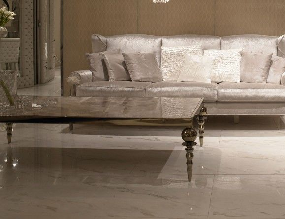 Visionnaire IPE Cavalli Cycas Luxury Italian Designer Coffee Table In  Bronze Lacquered Stainless Steel Structure With