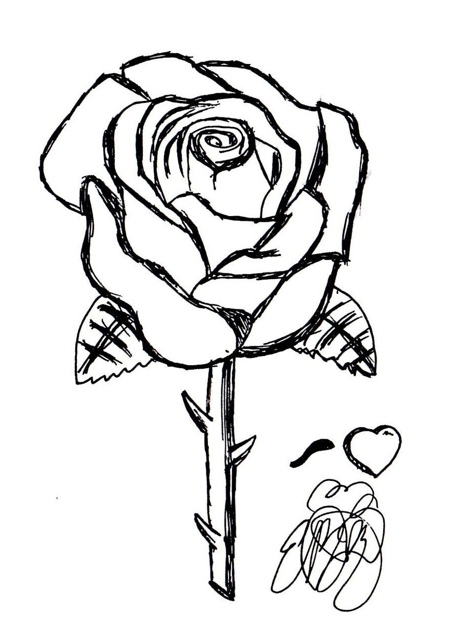 rose_sketch_by_Sonamyluver | stencil | Pinterest