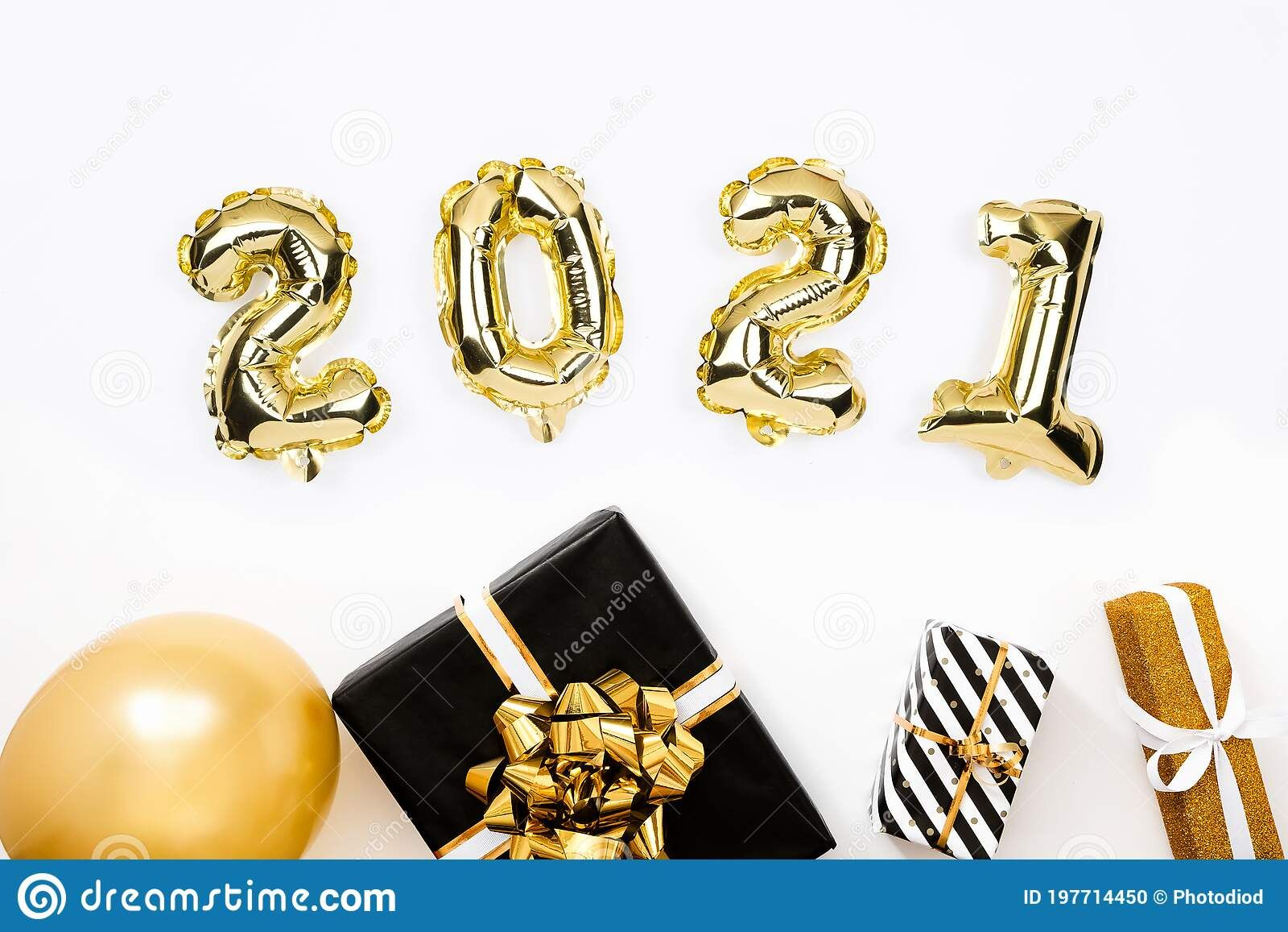 Happy New Year 2021 Celebration Gold Foil Balloons Numeral 2020 On White Background Stock Photo Image O Gold Foil Balloons Foil Balloons Happy New Year 2021 2021 new year balloons and gift