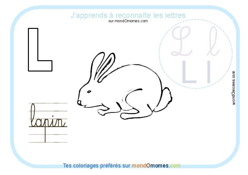 la lettre l Coloriage alphabet lettre L | Alphabet•§•Alfabeto | Pinterest la lettre l
