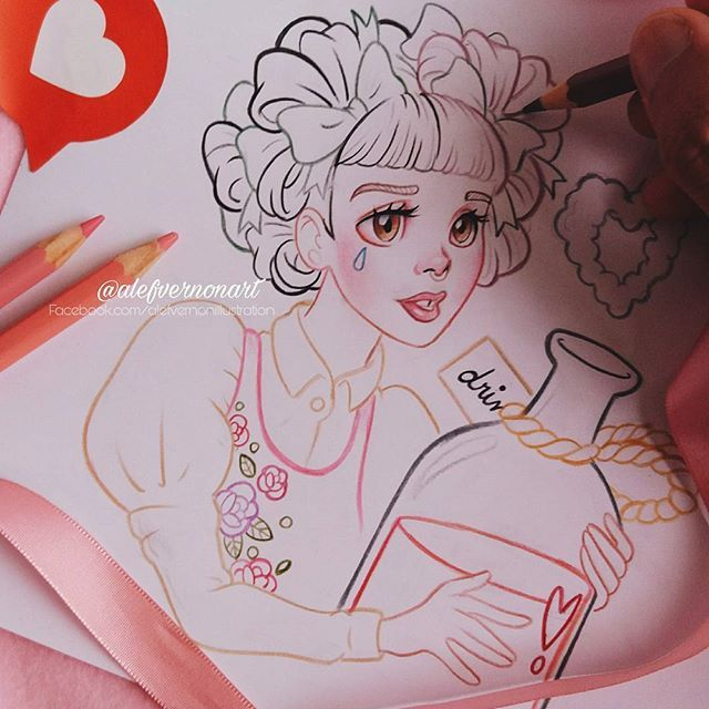 Melanie Martinez Mad Hatter In Progress I Ll Try To Draw 3 Visuals Of T Melanie Martinez Drawings Melanie Martinez Mad Hatter Crybaby Melanie Martinez