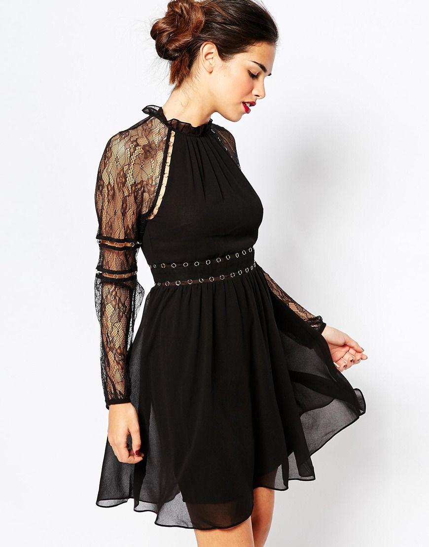 Warehouse Rivet Detail Dress
