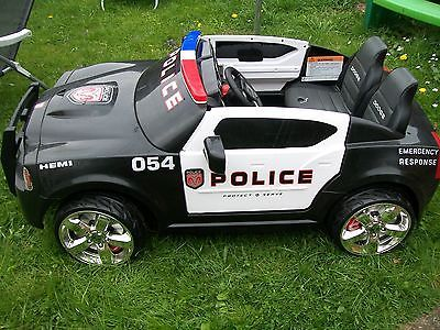 dodge police car 12v electic ride on kids toy rare 300 new
