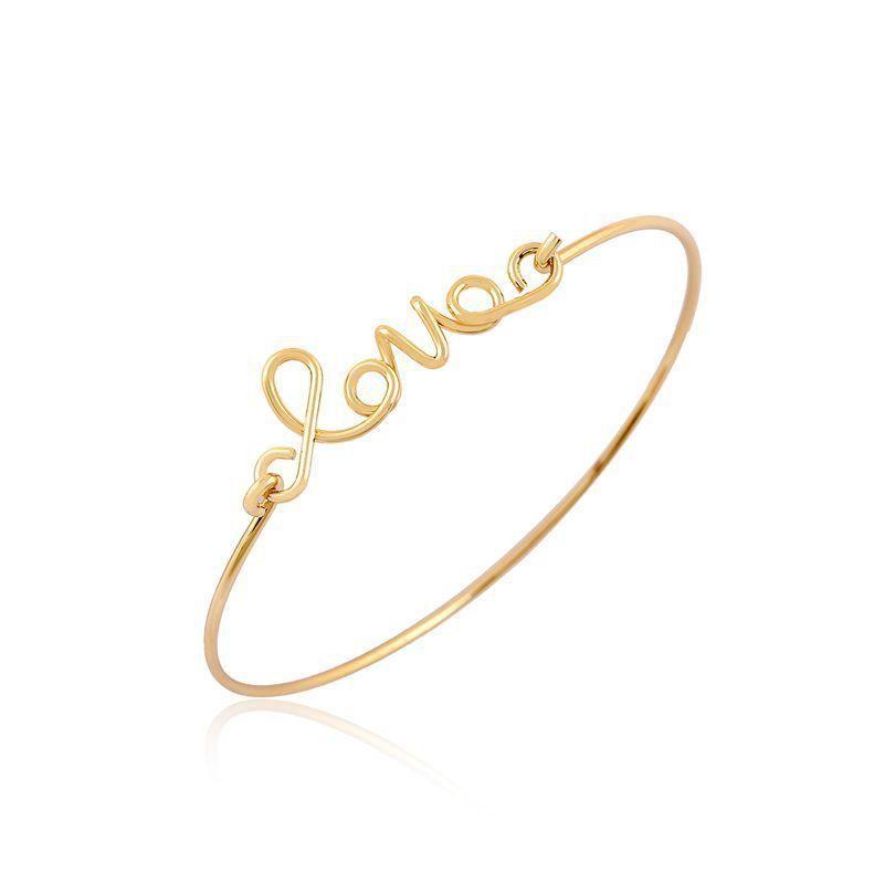 Love Bracelet Unique Trendy Bangle Women S Cute Minimalist Gold Simple Silver