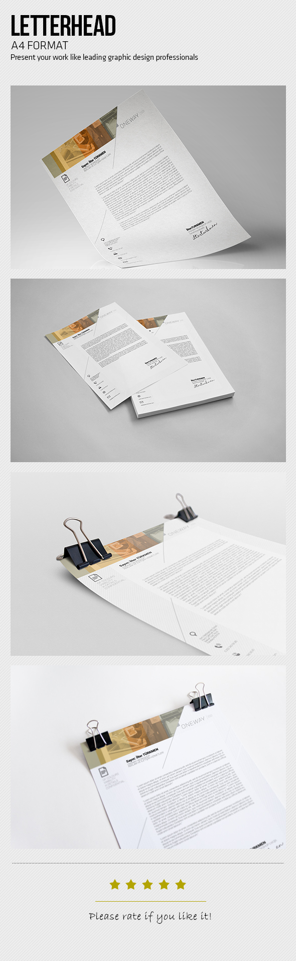 Minimal letterhead buy minimal letterhead by ilterturkmen on graphicriver page size cmyk color 6 pages design in 300 dpi resolution print ready format indesign file spiritdancerdesigns Choice Image