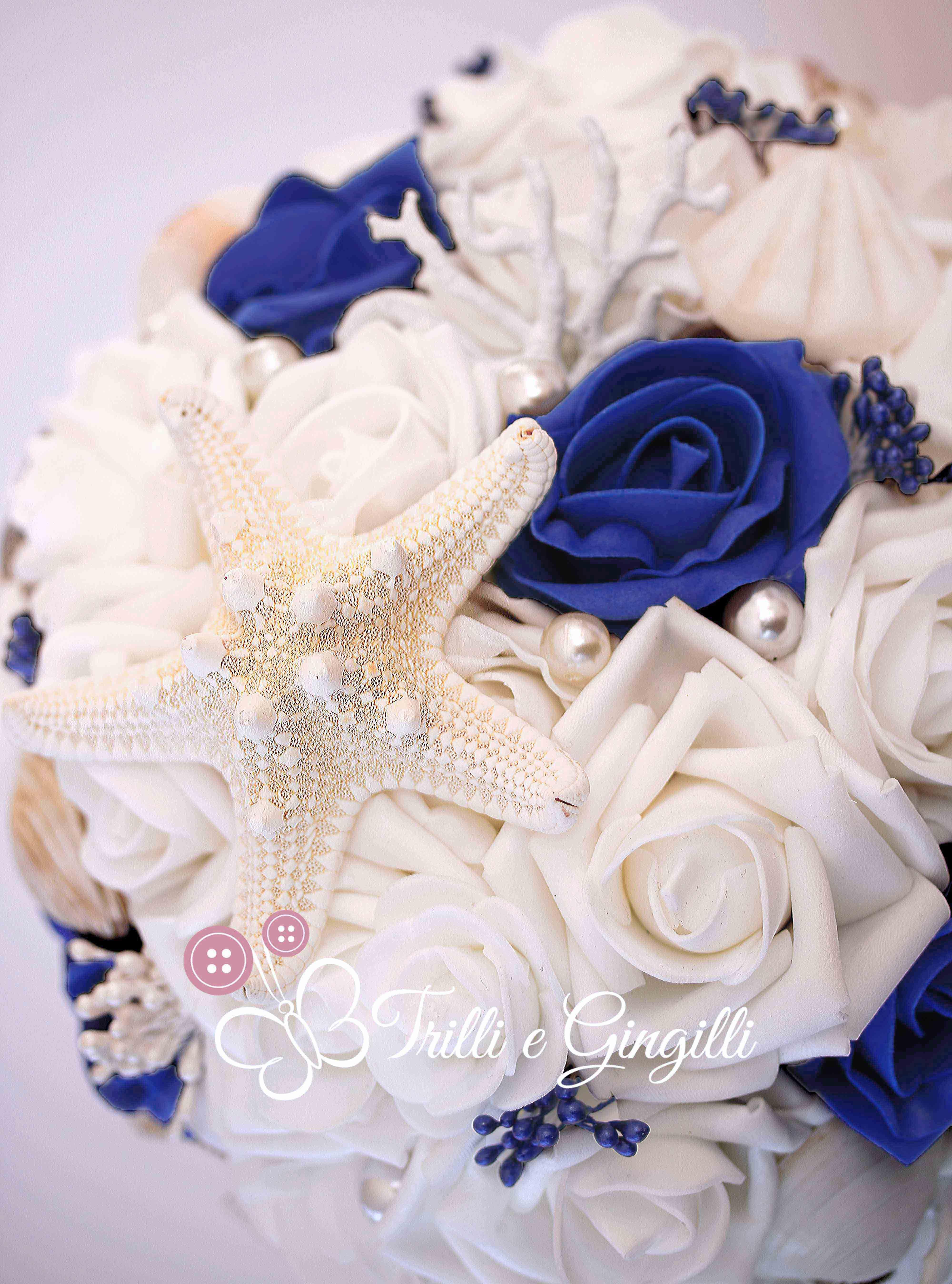 Bouquet Sposa Mare.Shells Bridal Bouquet Blue Royale Bouquet Sposa Tema Mare