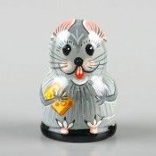 Russian Tiny Mouse With Cheese Thimble