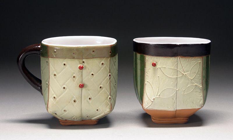 Liz Zlot Summerfield Gallery Sub Pottery Mugs Summerfield