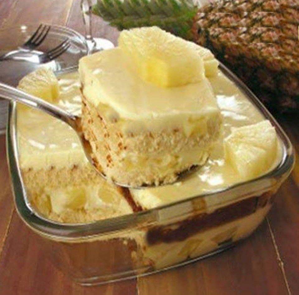 Pave Pratico De Abacaxi Receitas Saborosas Sobremesas