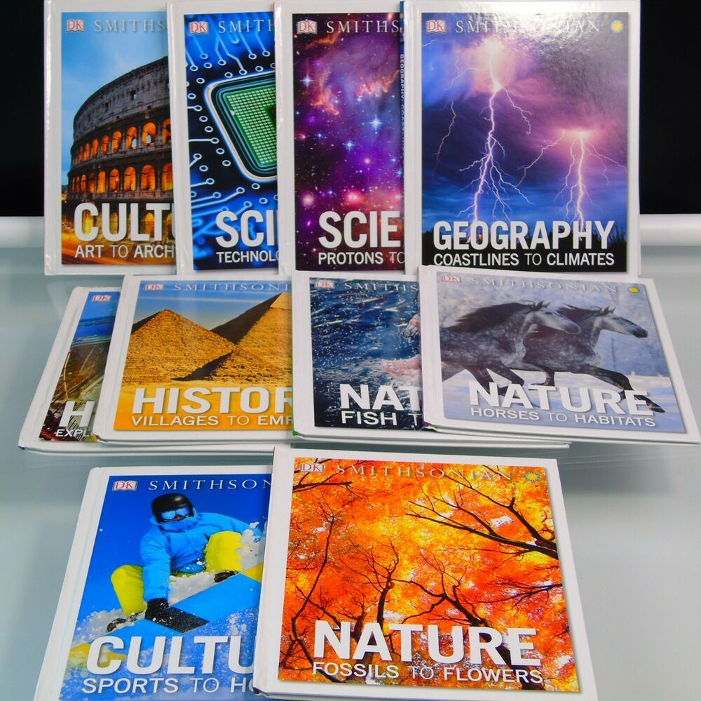 10 DK SMITHSONIAN Books Science Culture Nature History