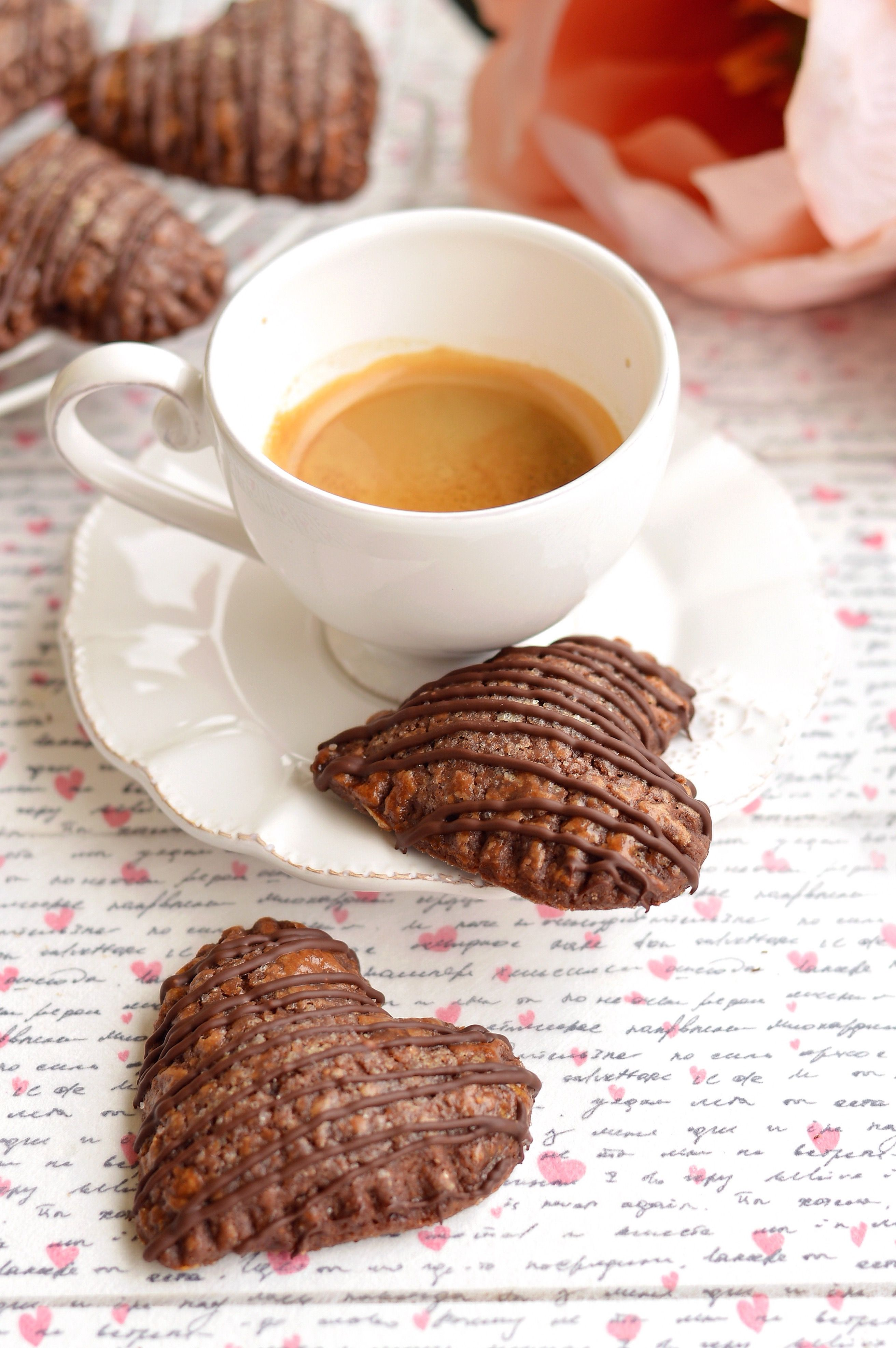 Chocolate heart pies