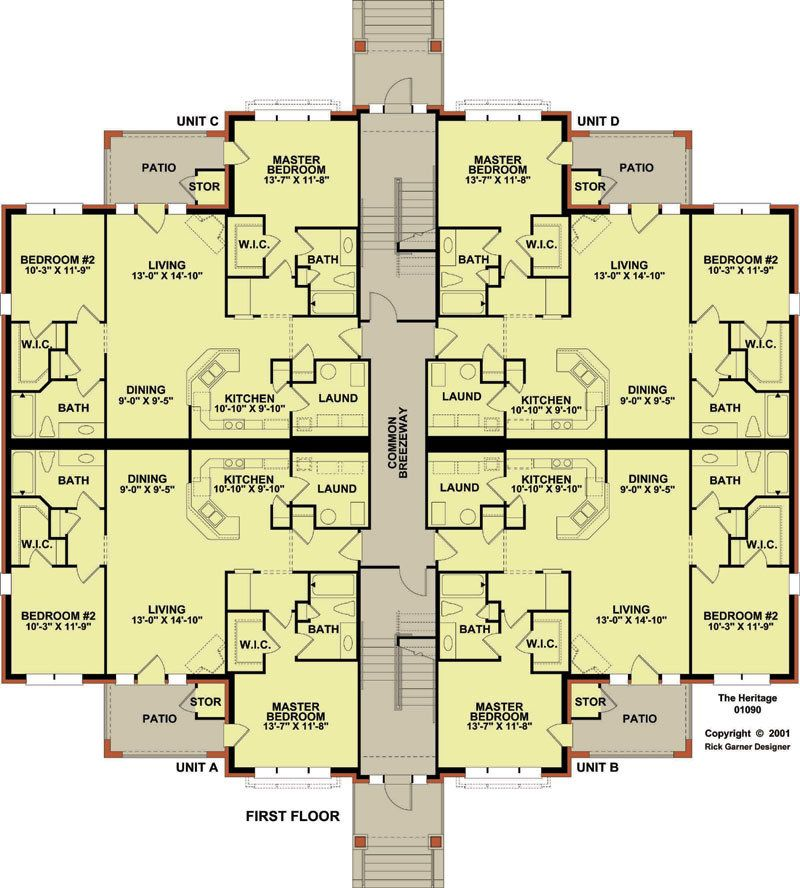 12 Plex 1 Floor Plan Apartment House Plan Ideas