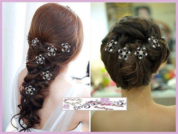 Wedding hair comb flower shape bridal hair by PerfectBrideBoutique