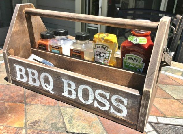 diy wood bbq caddy, crafts, how to, storage ideas, woodworking projects #woodcraftprojects