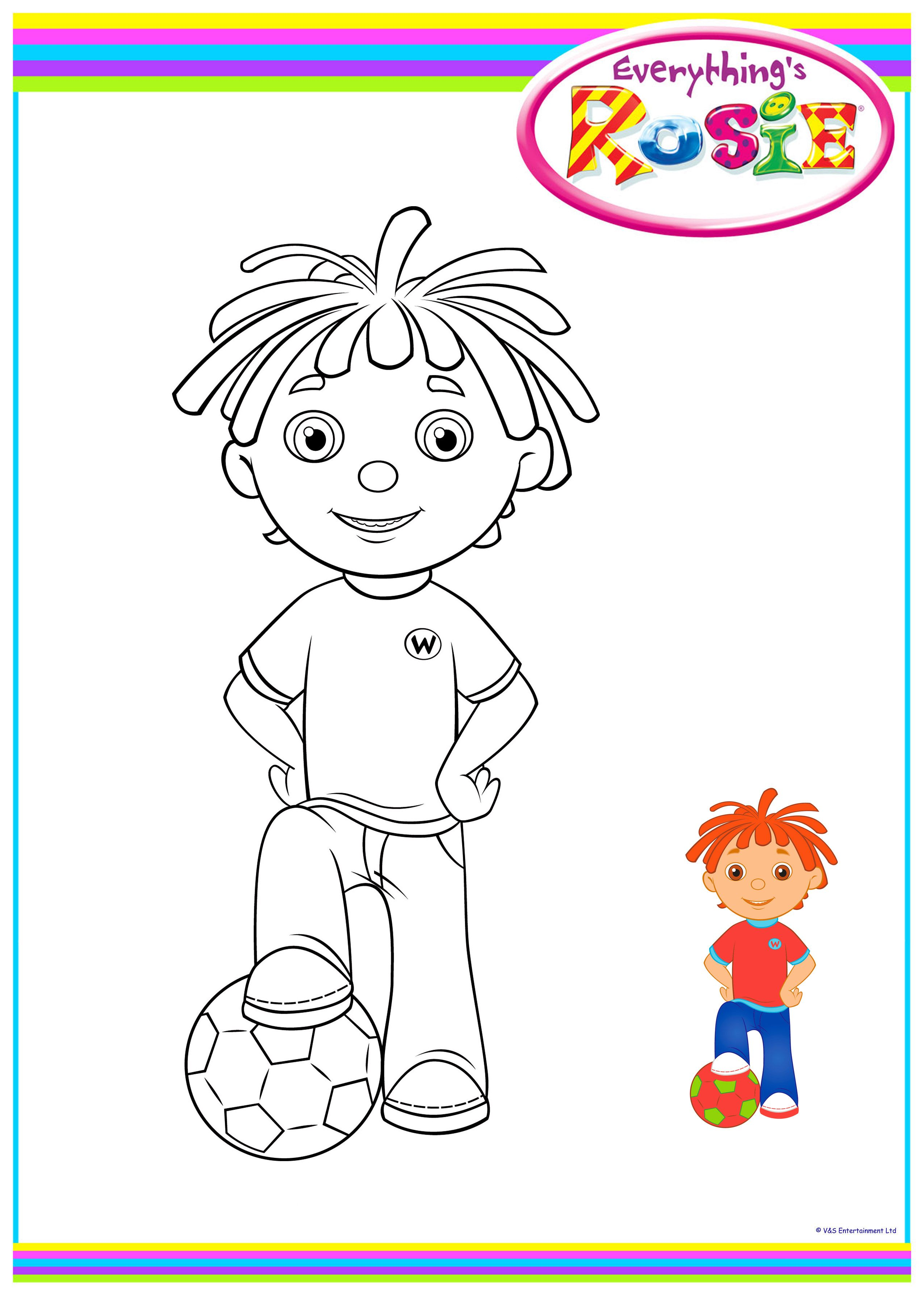 Rosie train coloring - Everything S Rosie Colouring Sheets 7