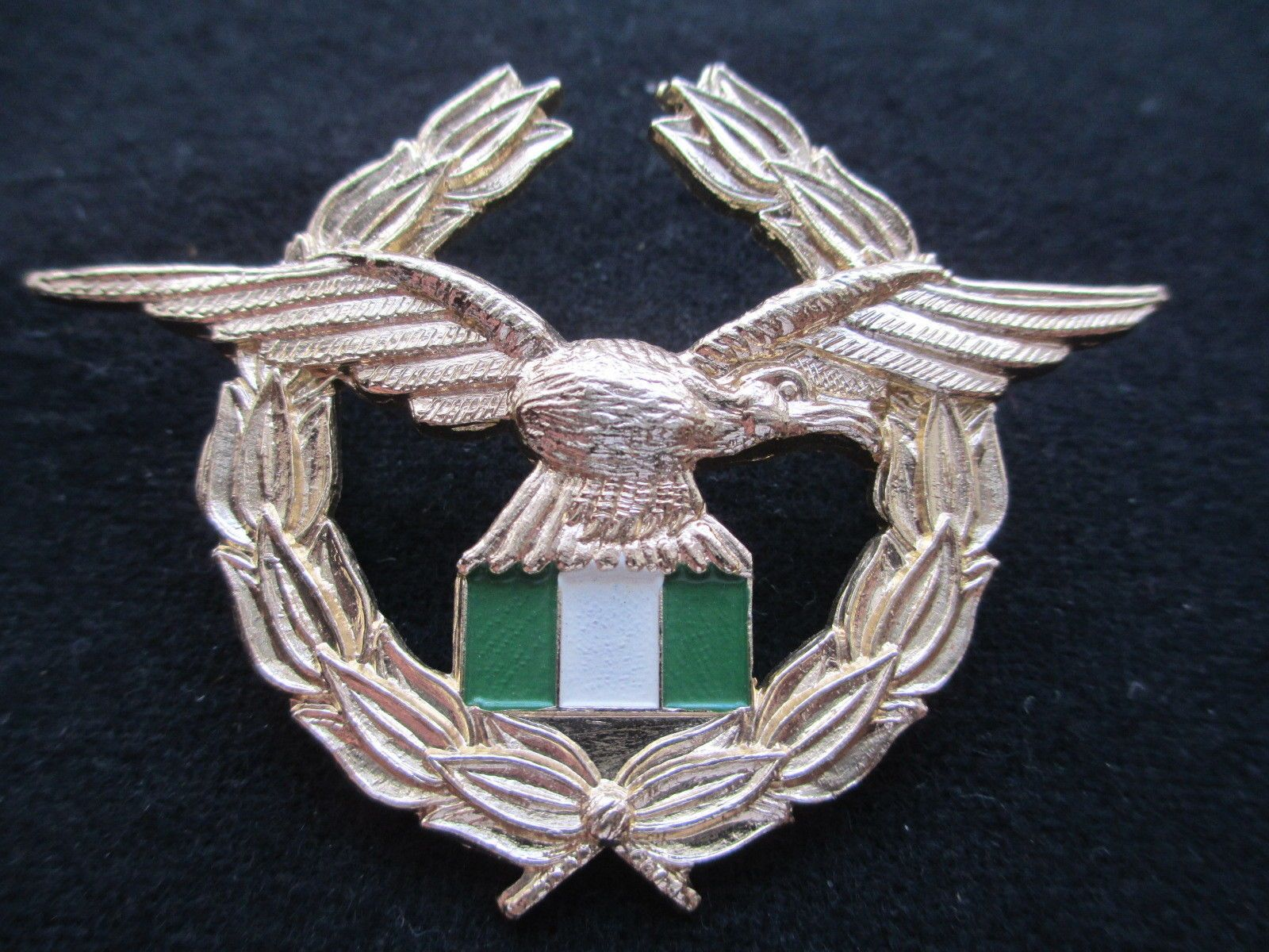 Nigeria Air Force Cap Badge. Staybright. with the