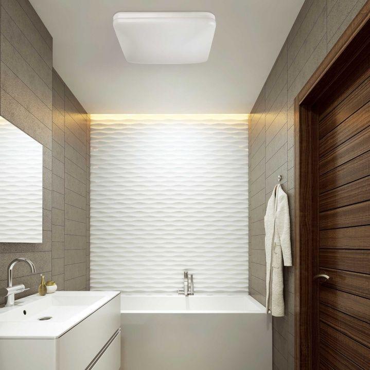 Moderne kompakte LED Deckenlampe in Weiß Badezimmer Leuchten - deckenlampen für badezimmer