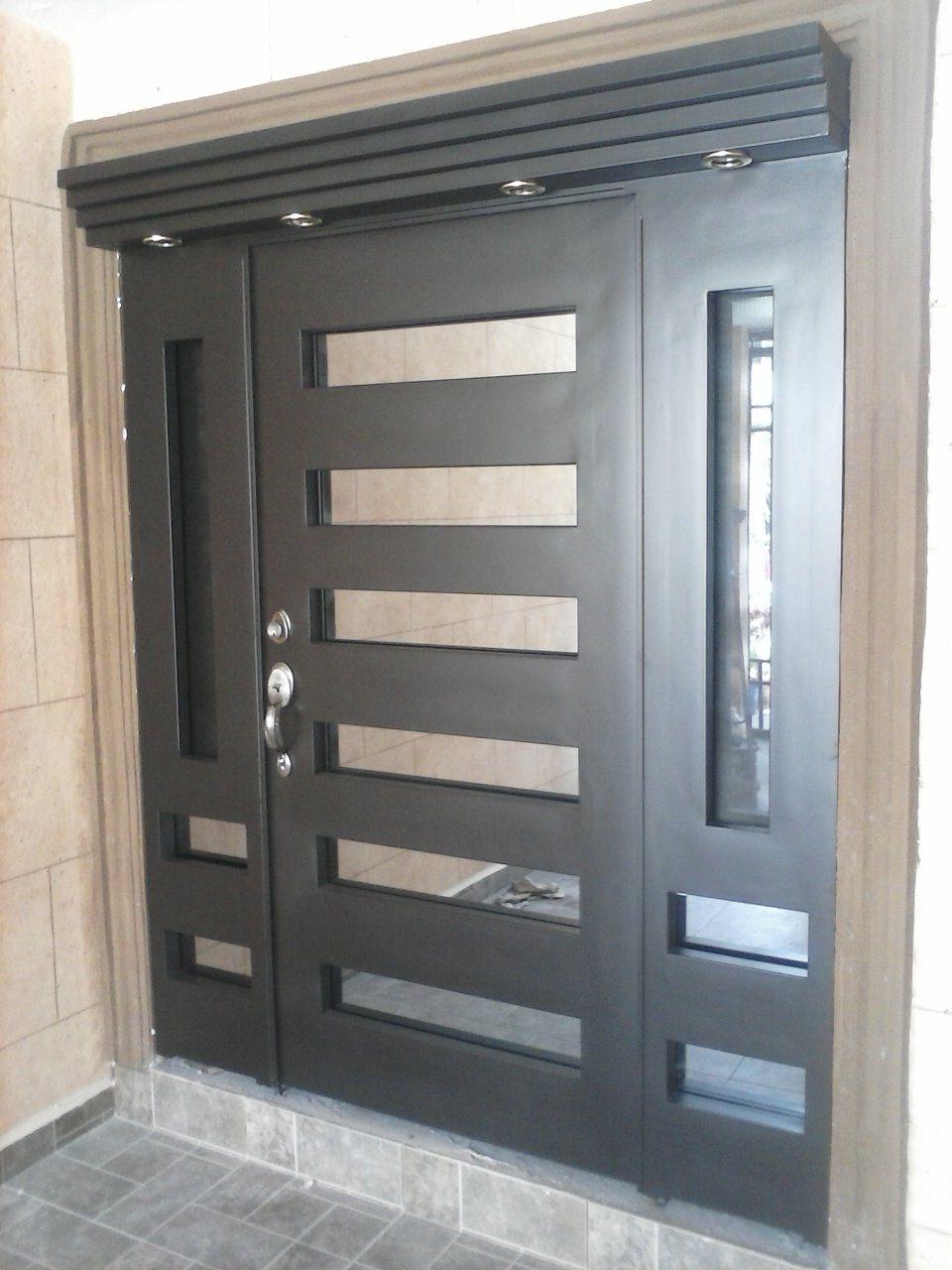 Puertas Principales Forja Contemporaneas Herreria Genuardis Portal ...