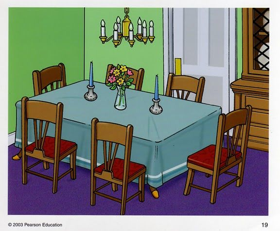 Cartoon Dining Room Background