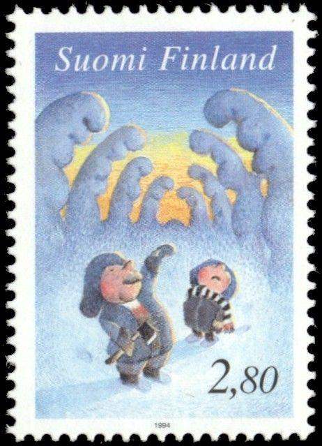 Joulupostimerkki 1994 2/2 - Kuusenhakijat