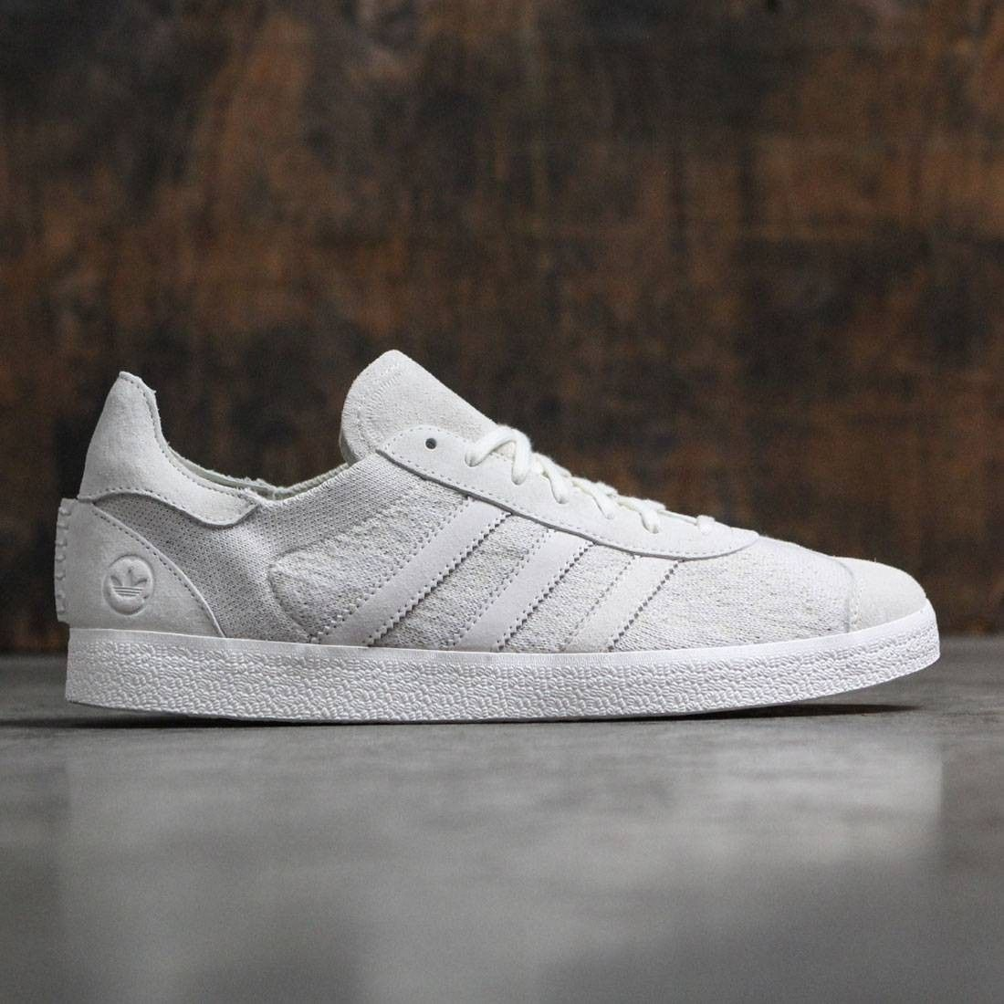 watch a1882 4d219 Adidas Consortium x Wings And Horns Men Gazelle Primeknit (white   off white )