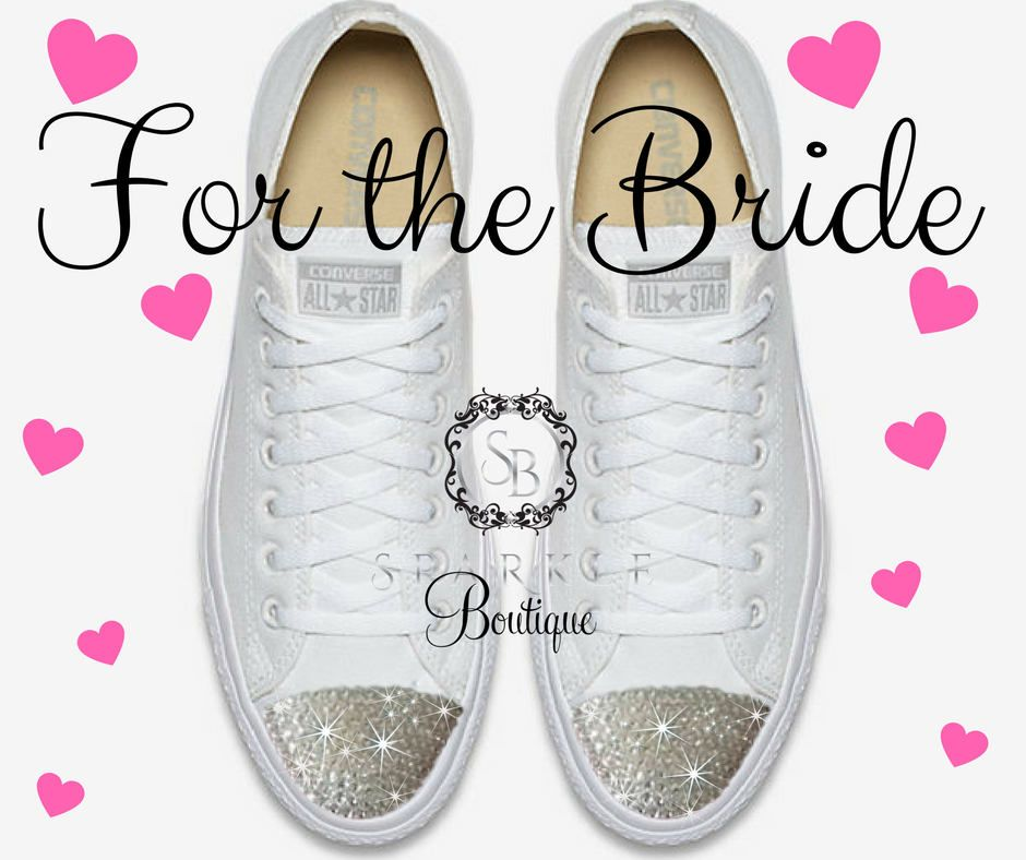 3de69469e6c6d2 BLING Wedding Converse - Bride BLING - Swarovski - Chuck Taylor All Star  Converse - Bling Shoes - All Sizes and Colors - Crystal - Custom