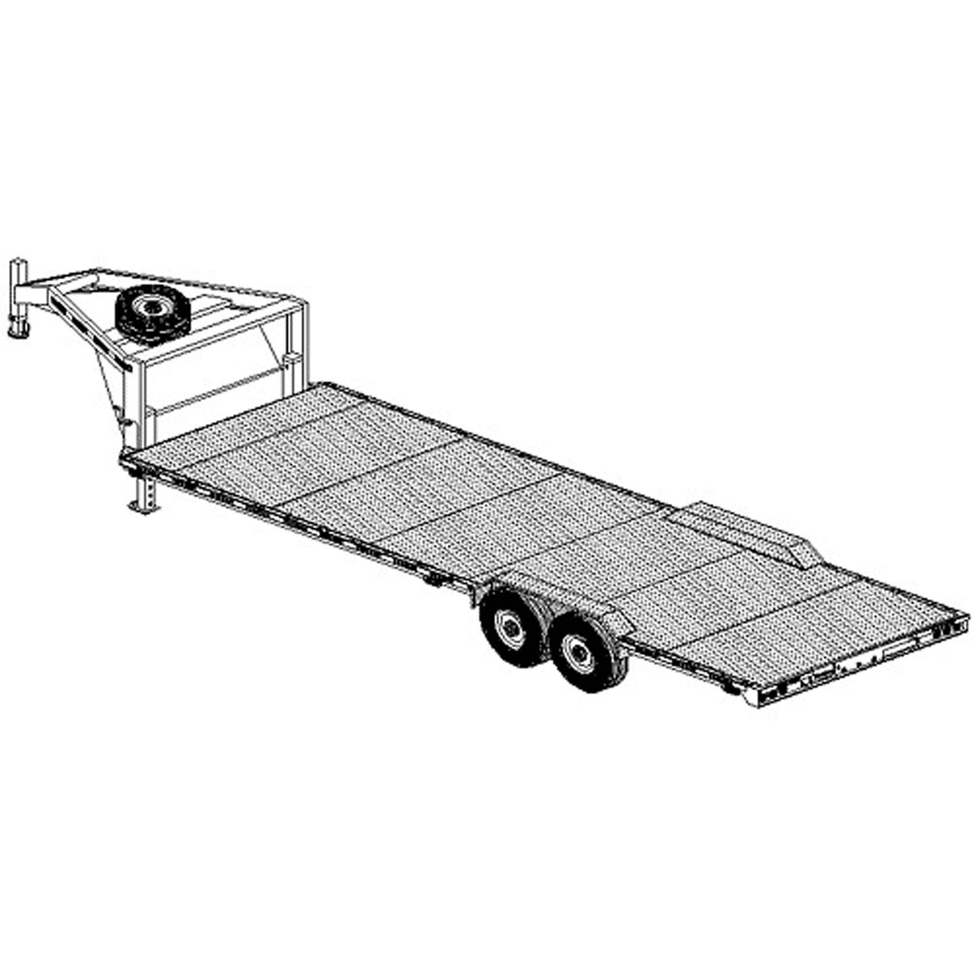 26 x102 gooseneck trailer plans model 26xt as seen on xtreme 4