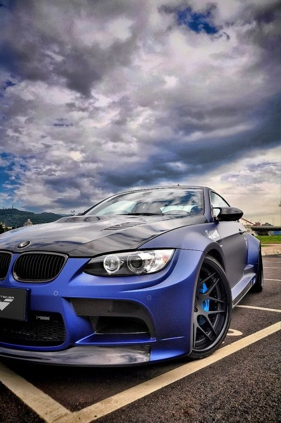Vorsteiner BMW GTRS3 Matte Blue #bmw #car #ferrari vs ... Lamborghini Vs Bmw