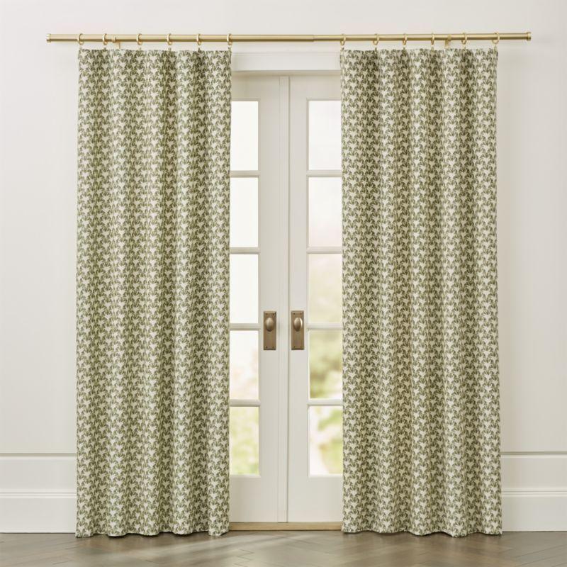 Pieri Ikat Curtain Panel Crate And Barrel Ikat Curtains Panel
