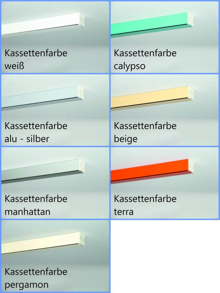 Kassettenfarben Bild Fur Shop Deluxe Kassette Duschrollo Und